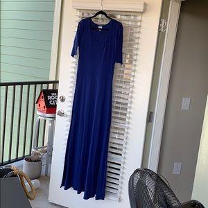 Lularoe Ana Maxi L Solid Royal Blue